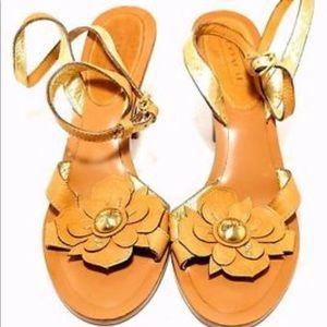 Brand new Coach daisy flower slingback sandals